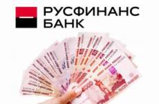 «Русфинанс Банк»: кредит наличными — процентная ставка
