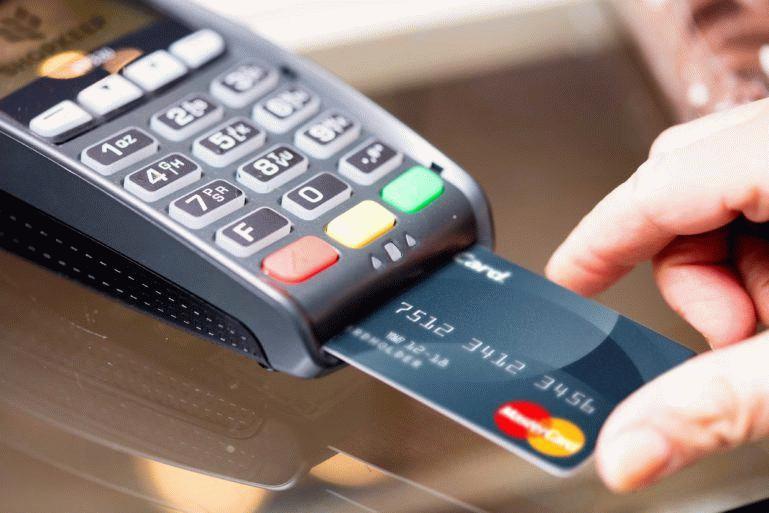 Процесс оплаты кредитной картой.