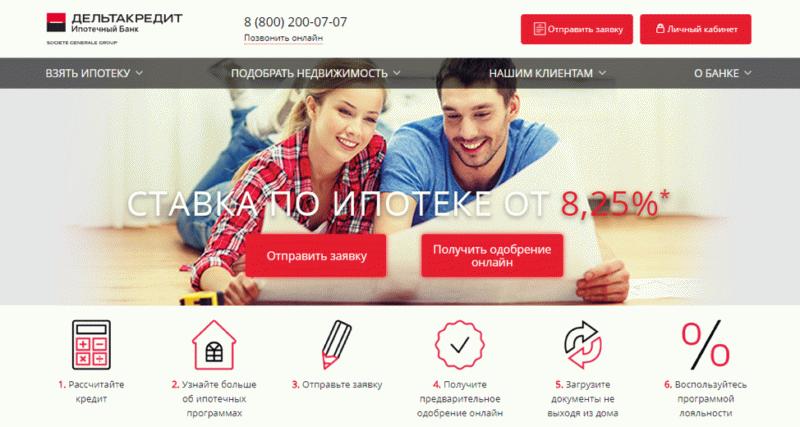 Предложение ипотеки от банка Дельтакредит