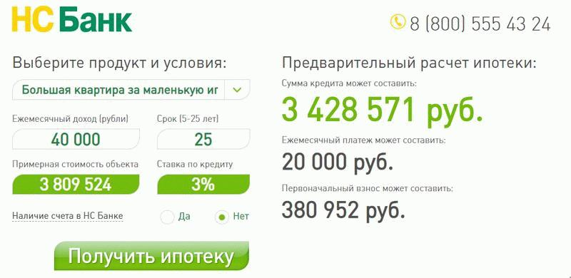 НС Банк предложение