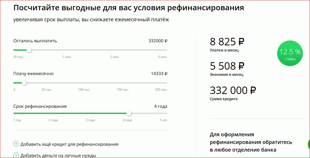 сбербанк онлайн рассчитать кредит россельхозбанк